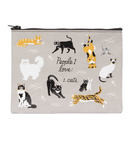 Blue Q Zipper Pouch - People I Love: Cats