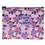 Blue Q Zipper Pouch - Wild At Heart