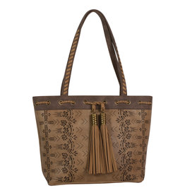 Catchfly 1982522 Chloe Purse - Hazelnut Laser Cut