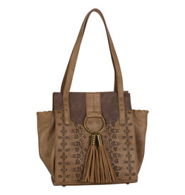 Catchfly 1982558 Catchfly Chloe Purse - Hazelnut Laser Cut
