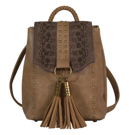Catchfly 1982584 Catchfly Chloe Backpack - Hazelnut Laser Cut