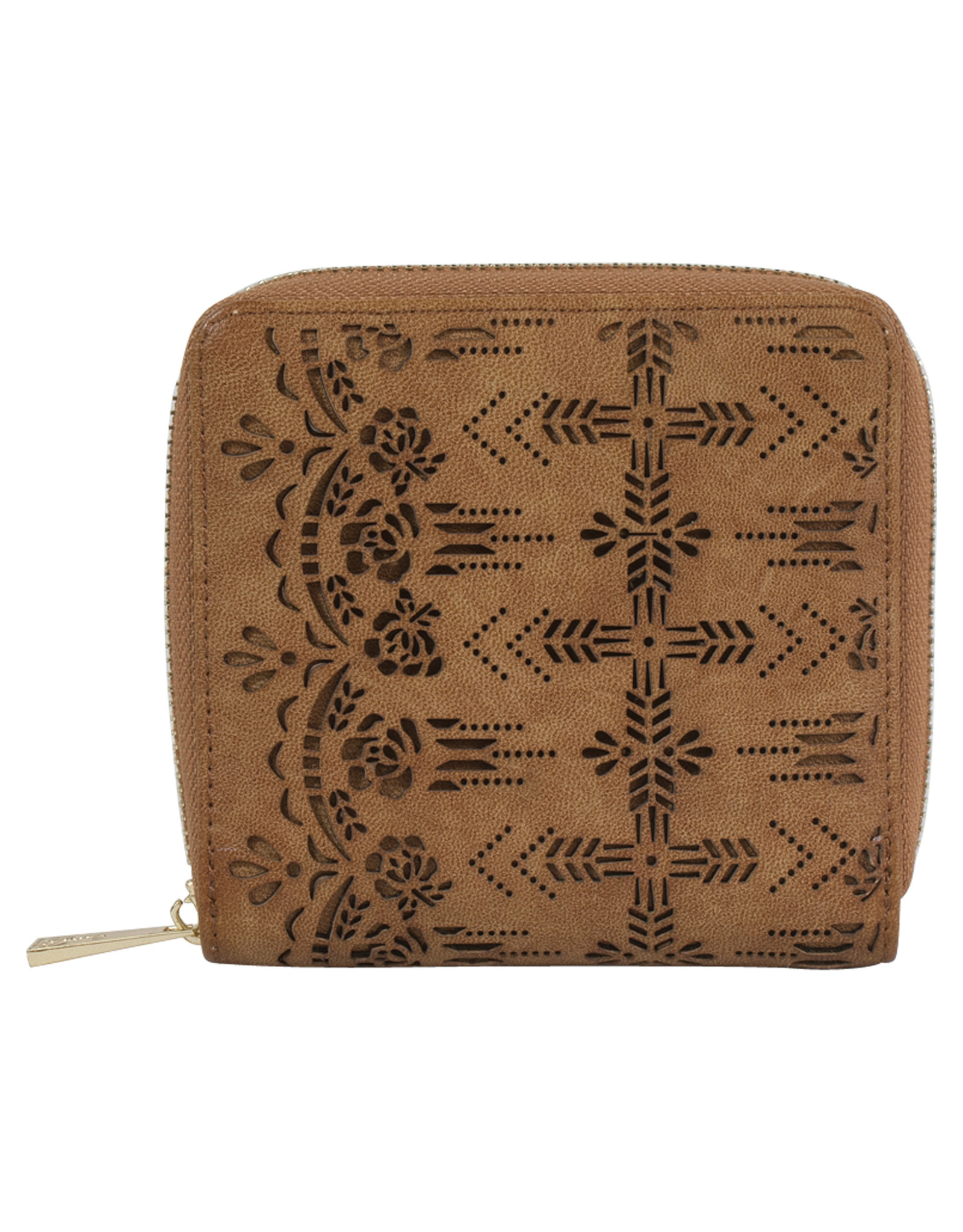 Catchfly 1982559W Catchfly Chloe Mini Wallet - Hazelnut