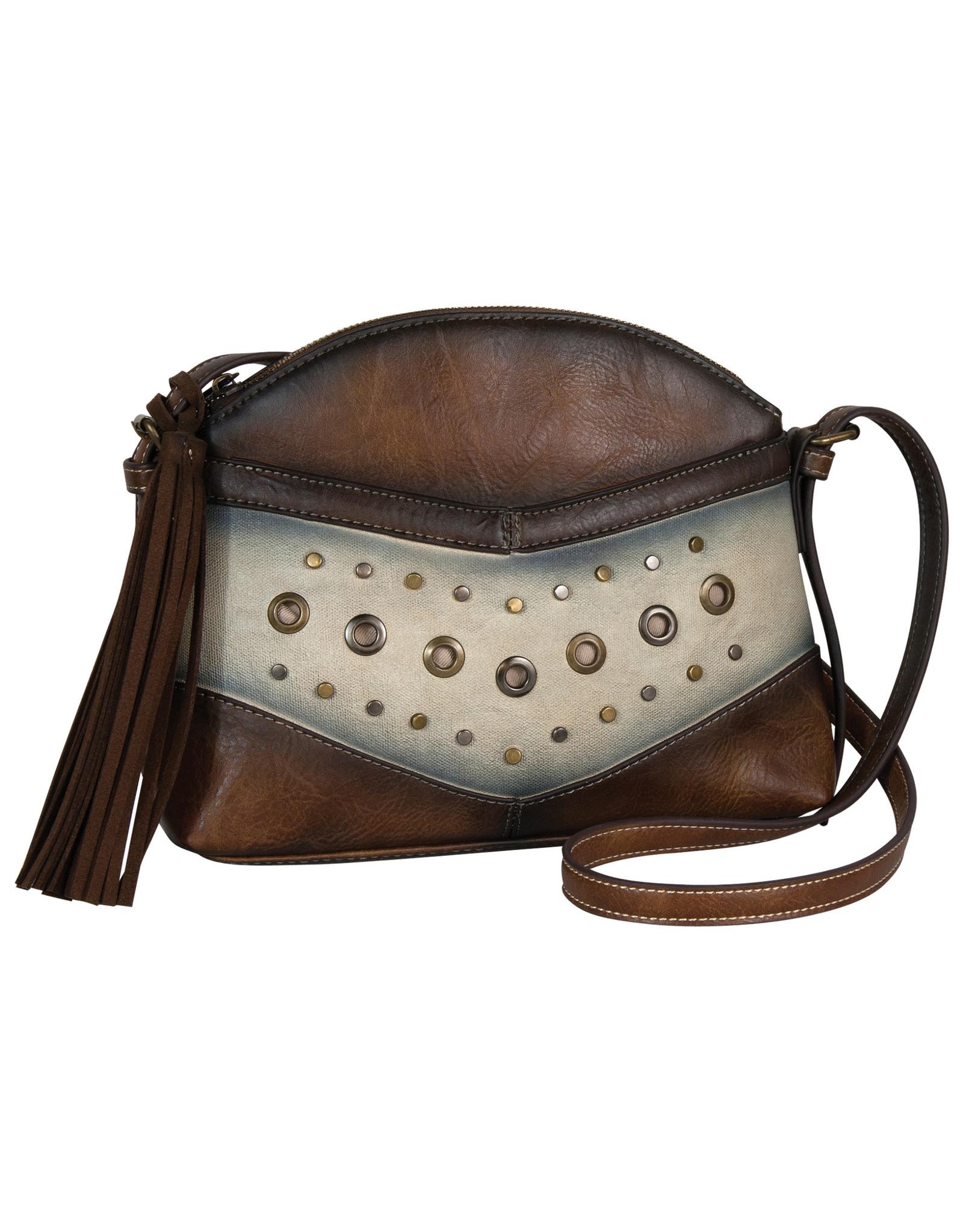 Catchfly 2002617 Catchfly Allie Shoulder Bag - Dark Tan