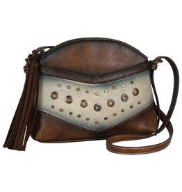 Catchfly 2002617 Catchfly Allie Shoulder Bag - Dark Tan