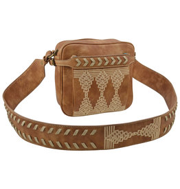 Catchfly 2004612 Catchfly Courtney Crossbody - Aged Saddle