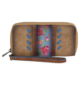 Catchfly 2008553W Catchfly Julia Wallet - Flower With Blue