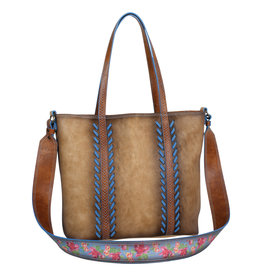 Catchfly 2008556 Catchfly Julia Tote - Burnish Tan