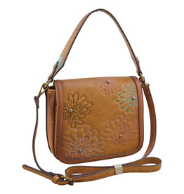 Catchfly 2010622 Catchfly Annie Saddle Bag - Flower