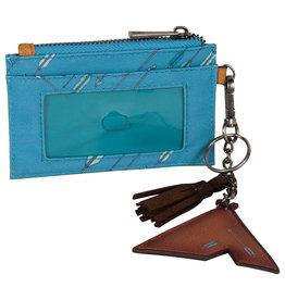 Catchfly 2023630W Catchfly Wanderlust ID Wallet - Turquoise Arrow