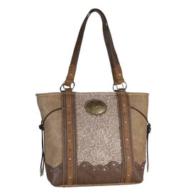 Justin 1811309 Justin Handbag - Light Tan w/Lace
