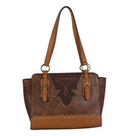 Justin 1960532 Justin Satchel - Saddle/Brown