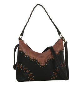 Justin 1964545 Justin Slouch Bag - Black & Chestnut