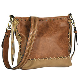 Justin 2053542 Justin Crossbody - Chestnut with Whip Stitch