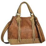 Justin 2053656 Justin Small Tote - Chestnut with Whip Stitch