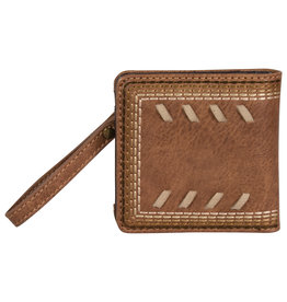 Justin 2053674W Justin Ladies Bifold Wallet - Chestnut with Whip Stitch