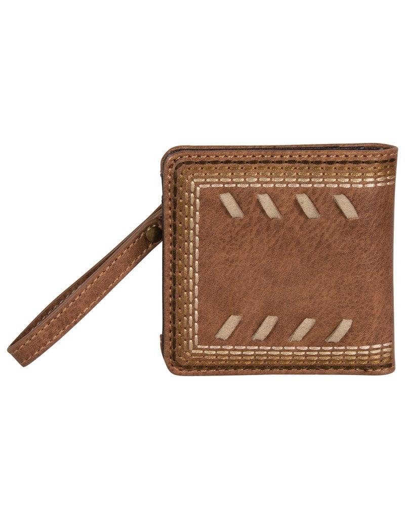 Justin 2053674W Justin Ladies Bifold Wallet - Chestnut with Whip Stitch