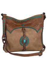 Justin 2057542 Justin Crossbody - Fawn w/Concho & Turquoise Trim