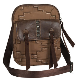 Justin 2061660TR Justin Crossbody - Trail Brown Parachute Bag