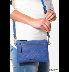 Noelle (Simply Noelle) HBN5023 Snakeskin Crossbody Wallet Cool - Cobalt