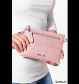 Noelle (Simply Noelle) HBN5023A Snakeskin Crossbody Wallet Warm - Canary