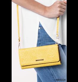 Noelle (Simply Noelle) HBN5024 Snakeskin Crossbody Wallet - White