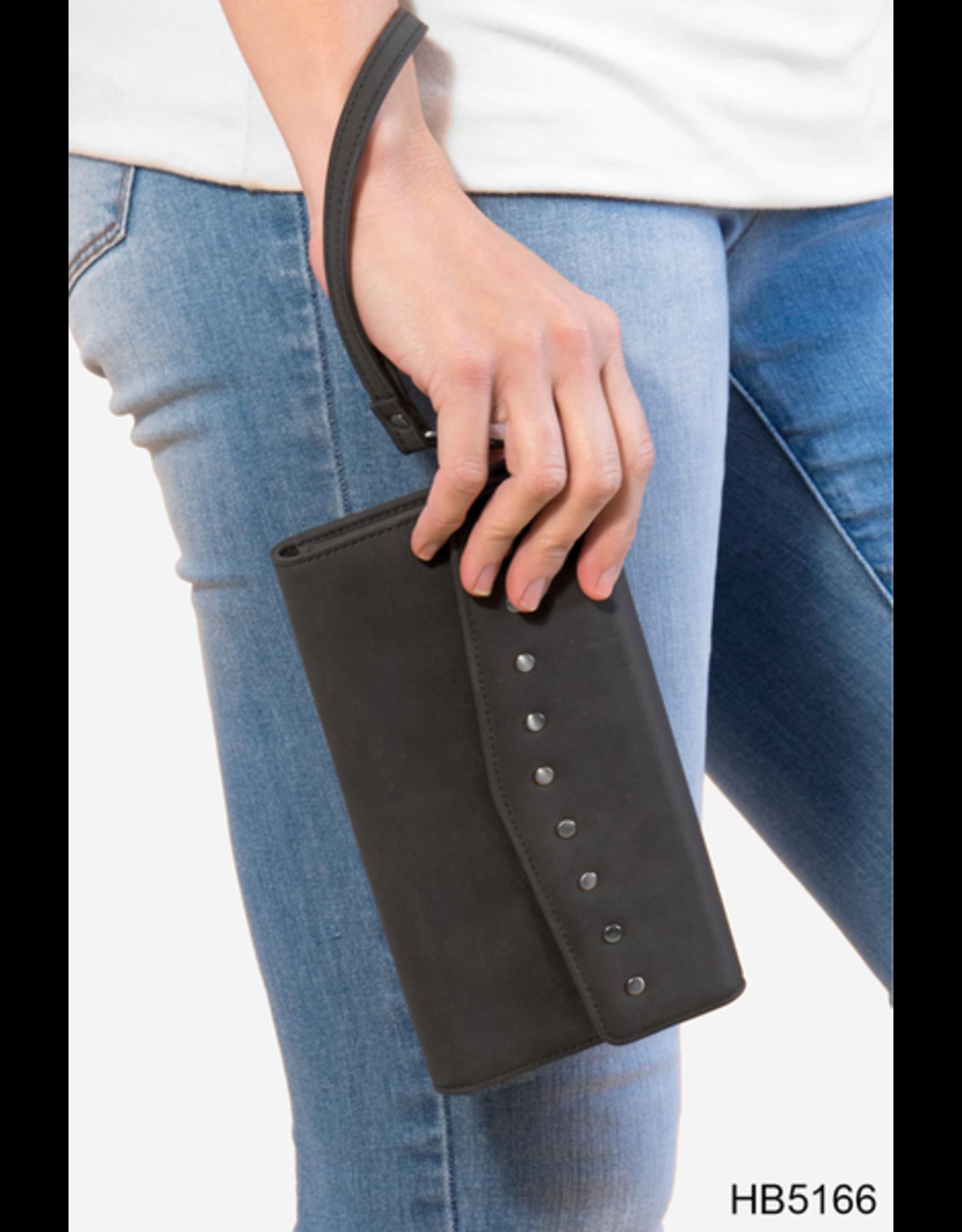 Noelle (Simply Noelle) HBN5166 Bandana Rivet Wristlet Wallet - Punch