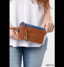 Noelle (Simply Noelle) HBN5173 Bandana Canvas Wristlet Wallet - Denim