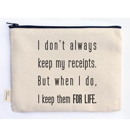 Ellembee Gift Zipper Pouch - Receipts