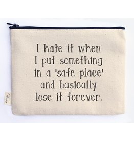 Ellembee Gift Zipper Pouch - Safe Place