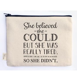 Ellembee Gift Zipper Pouch - She Believed