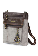 Chala Gemini Crossbody Gray Anchor