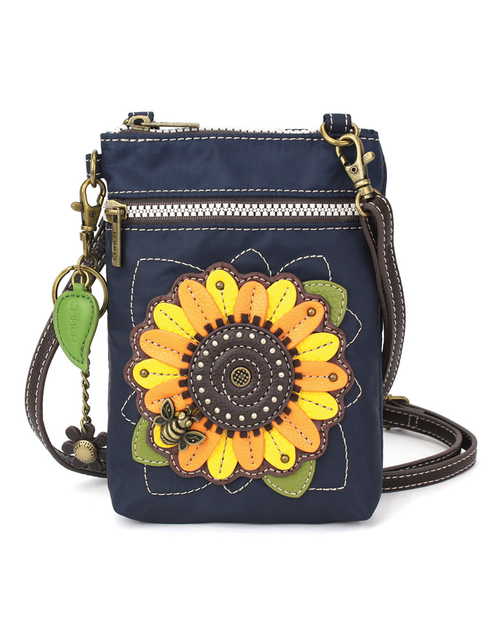 Chala Venture Cell Phone Crossbody - Sunflower - Navy