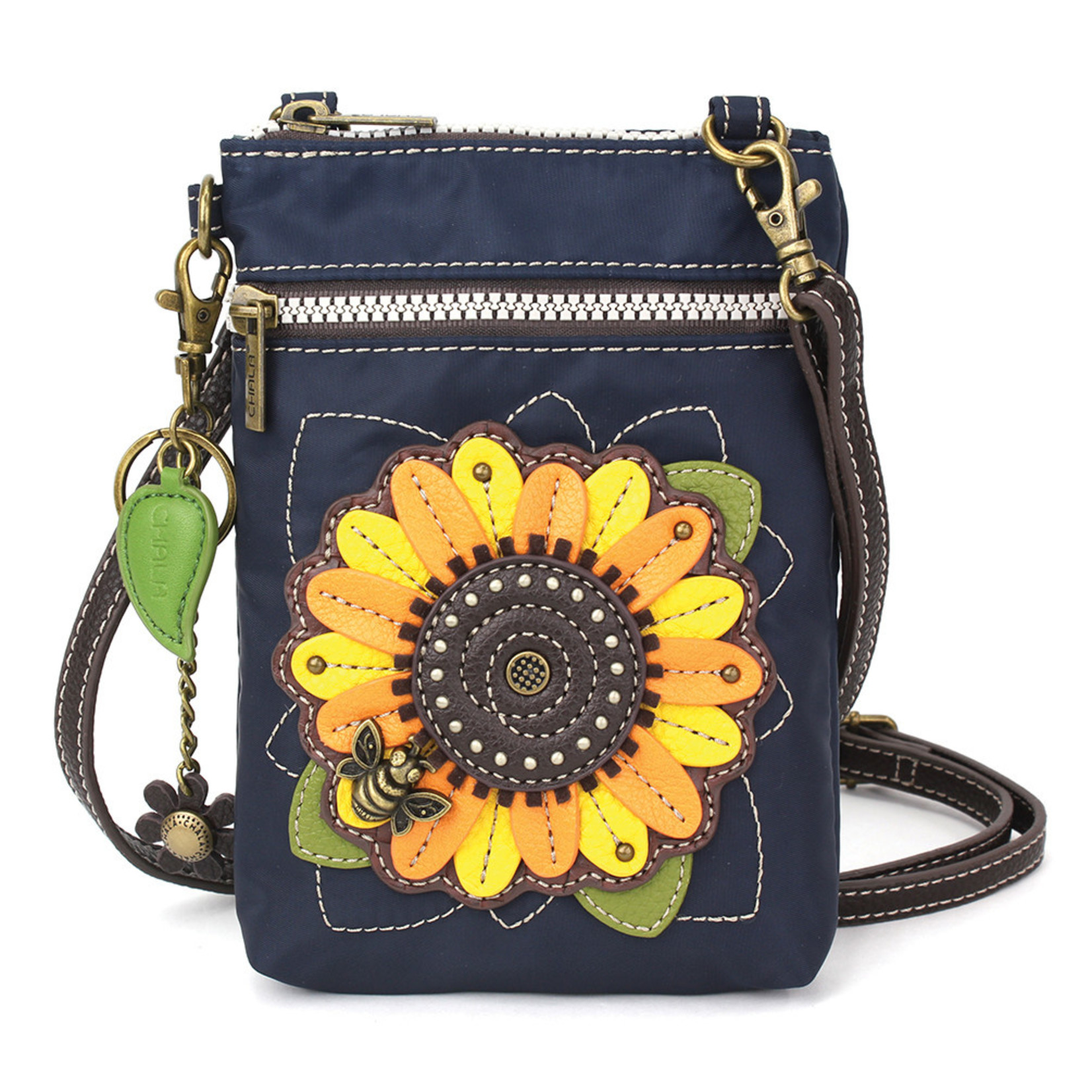 Chala Venture Cell Phone Crossbody - Sunflower - Navy