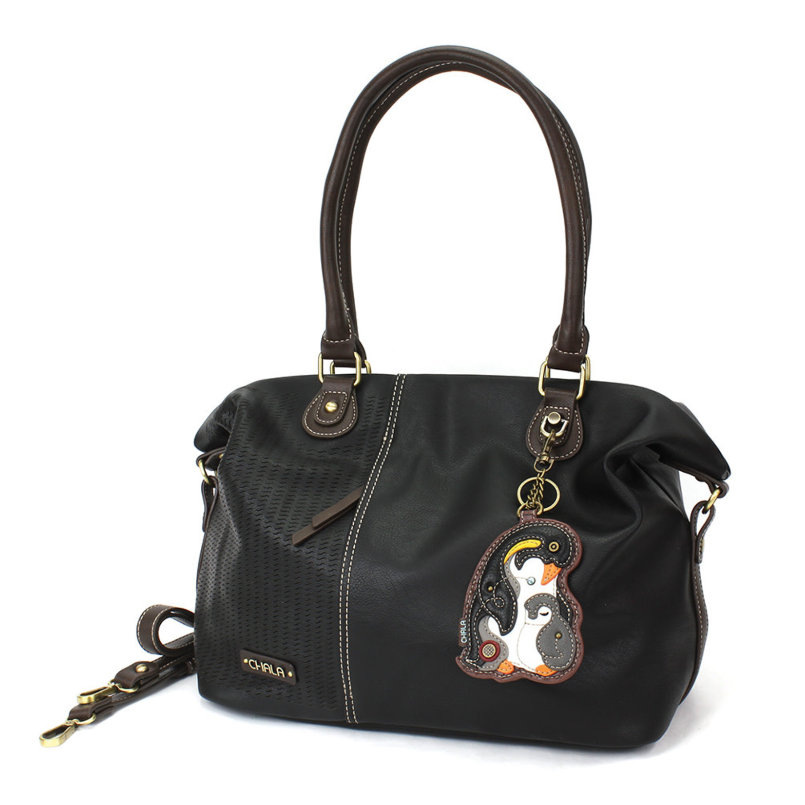 Chala Laser Cut Tote (Penguin) Black