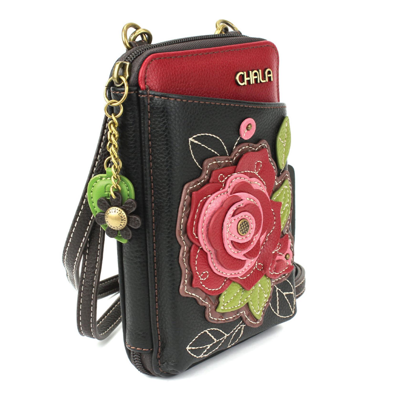 Chala Wallet Crossbody - Red Rose