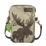 Chala Safari Moose Canvas Cell Phone Crossbody