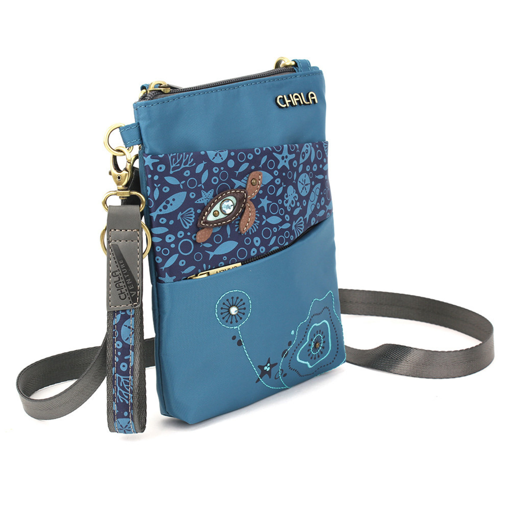 Chala Venture Evolution Cell Phone Crossbody - Turtle - Turquoise