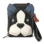 Chala Cute-C Credit Card Holder Wristlet:  Boston Terrier