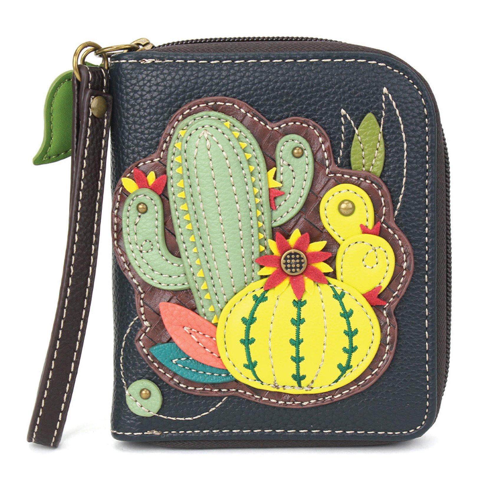 Chala Zip Around Wallet Cactus