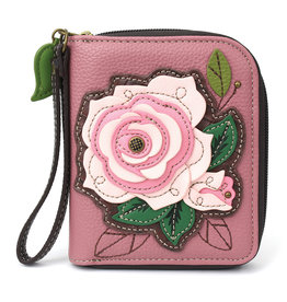 Chala Zip Around Wallet Rose