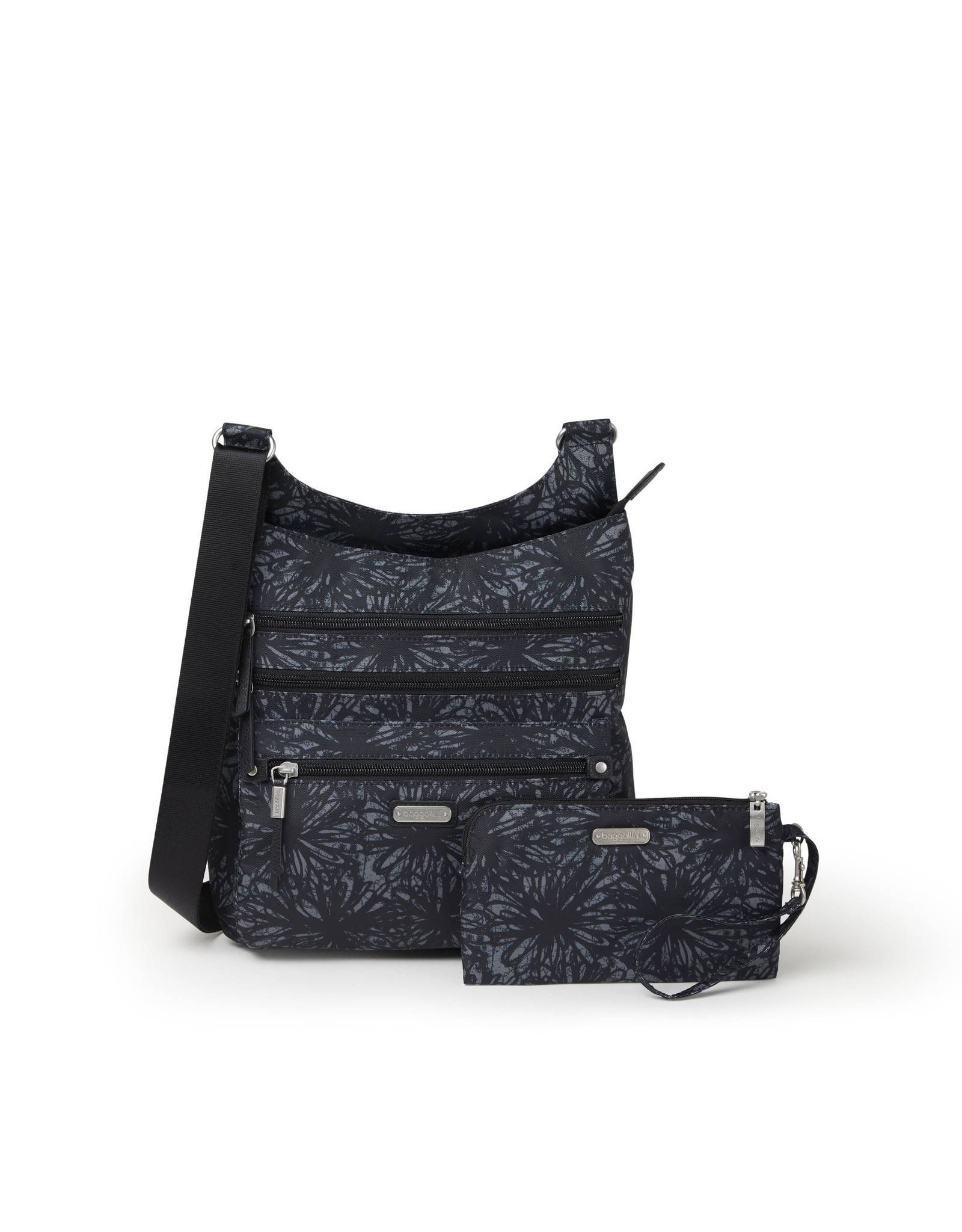 Baggallini Around Town Bagg - Onyx Floral