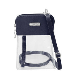 Baggallini Stadium Clear Bryant Crossbody - Dark Blue