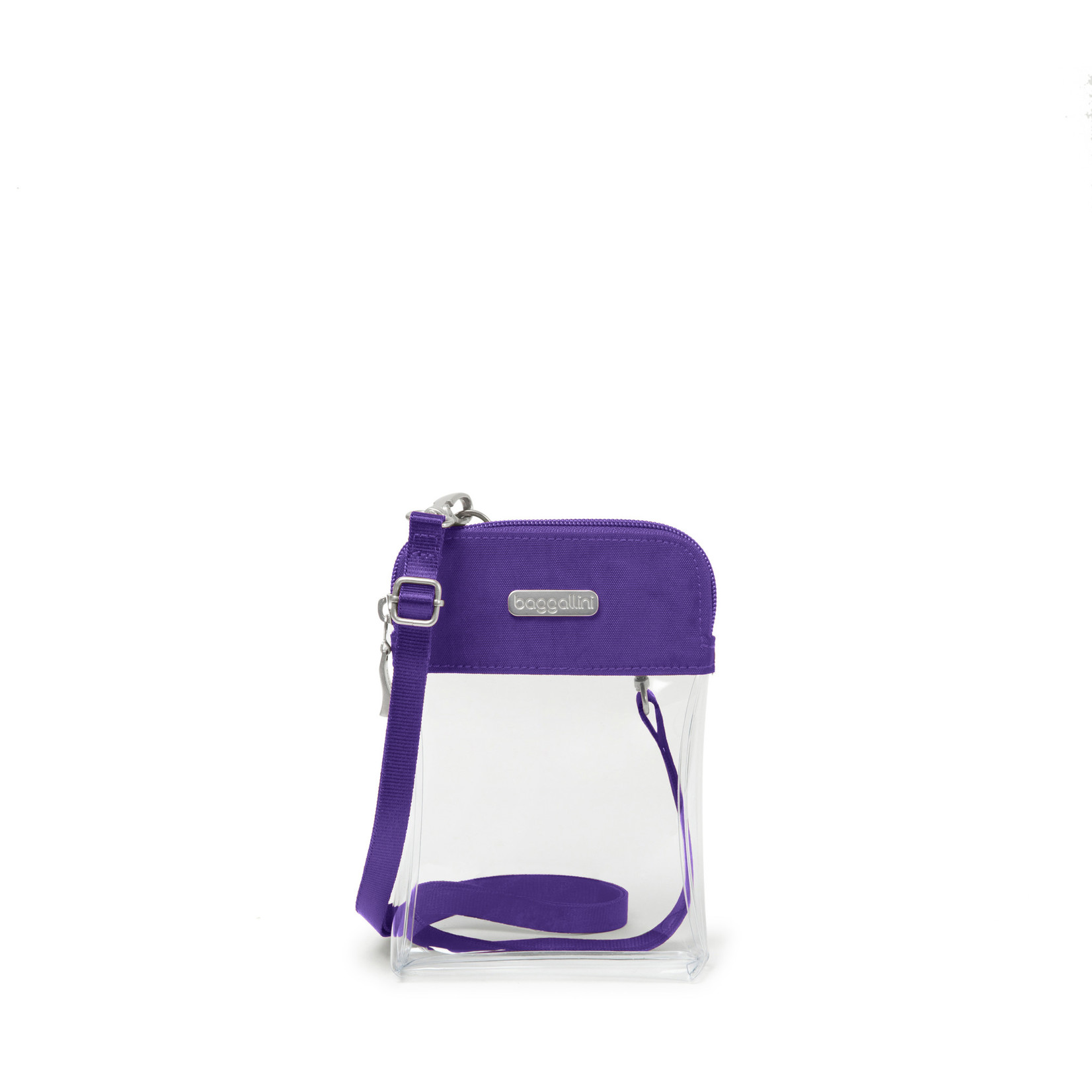 Baggallini Clear Event Compliant Bryant Crossbody - Royal Purple