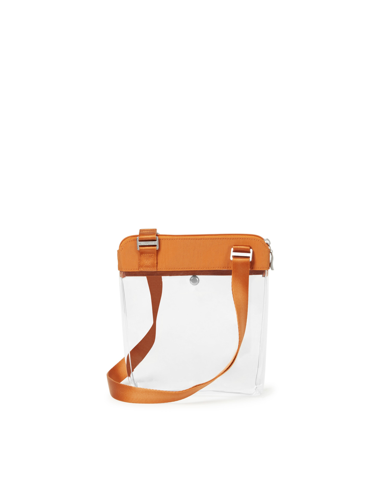 Baggallini Clear Event Compliant Pocket Crossbody - Orange