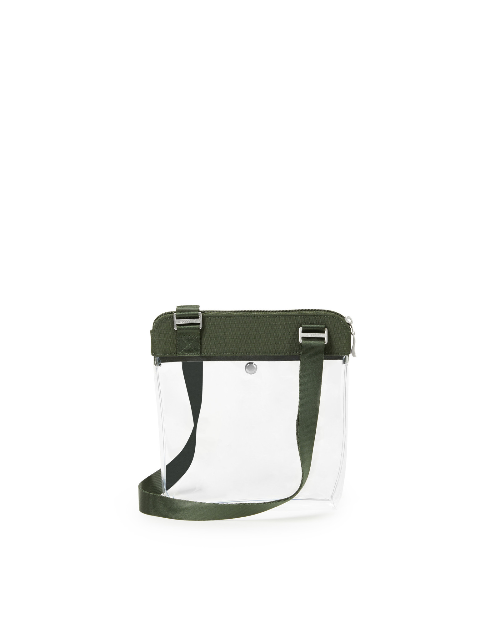Baggallini Clear Event Compliant Pocket Crossbody - Deep Green