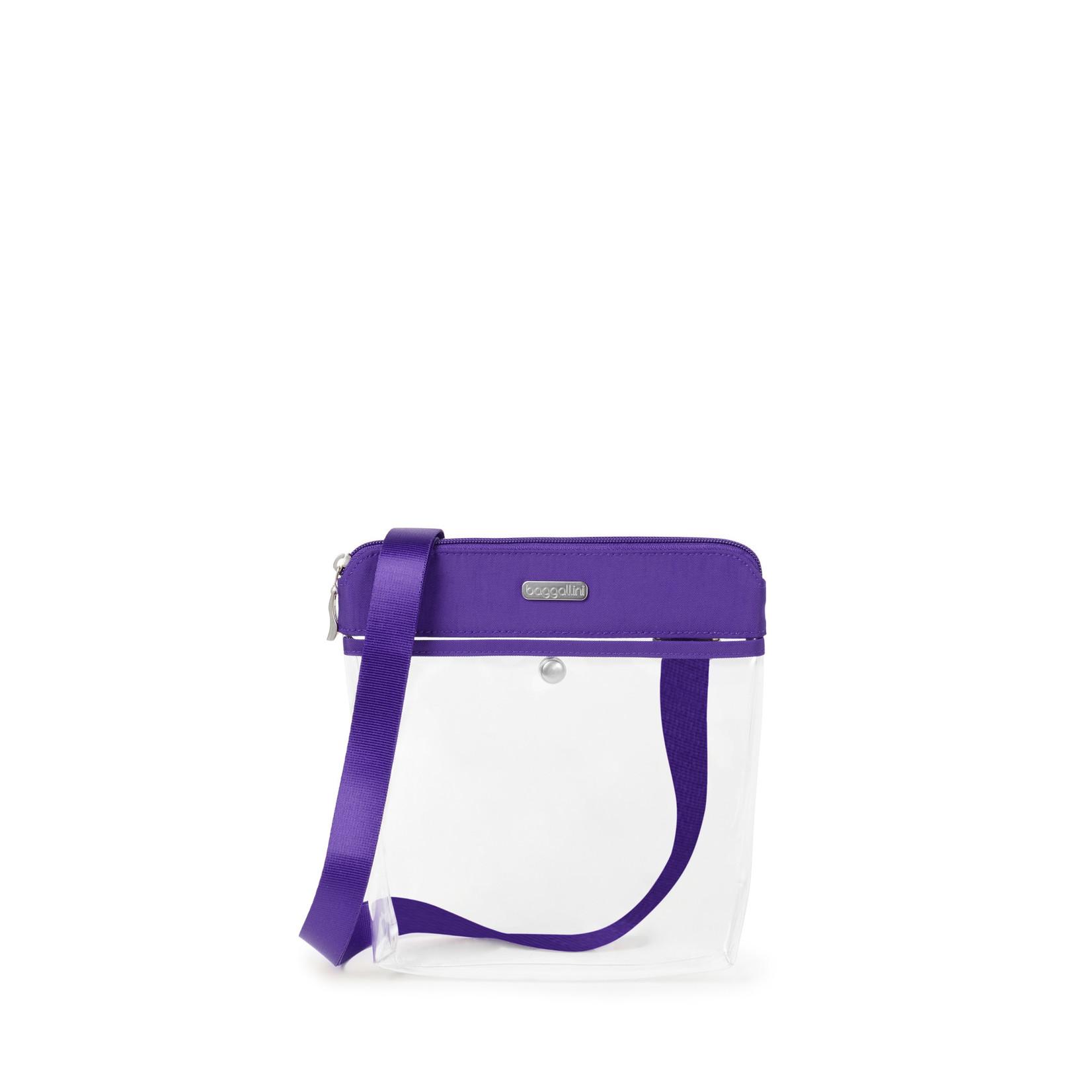 Baggallini Clear Event Compliant Pocket Crossbody - Royal Purple