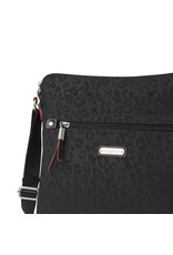 Baggallini Go Bagg with RFID Wristlet - Black Cheetah Embossed