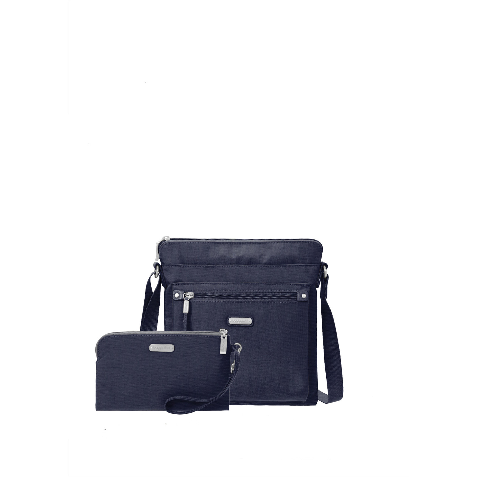 Baggallini Go Bagg with RFID Wristlet - Navy