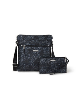 Baggallini Go Bagg with RFID Wristlet - Onyx Floral