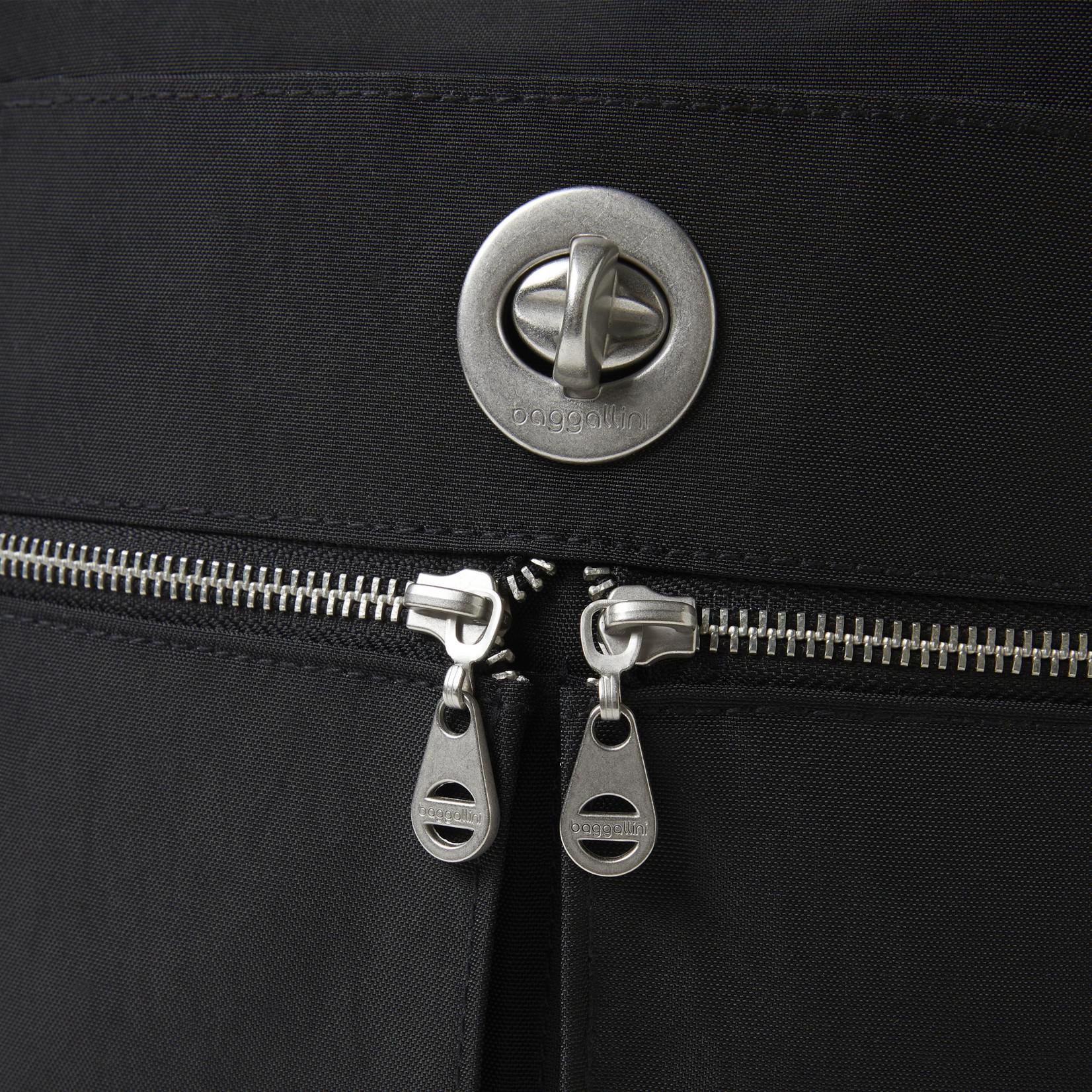 Baggallini Madras RFID Crossbody Bag - Black